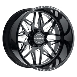 Black Rhino Wheels Twister (Left) - Gloss Black W/Milled Spokes Rim - 22x14