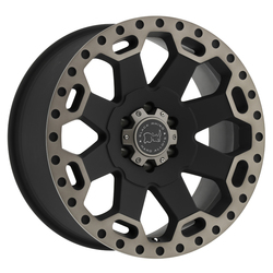 Black Rhino Wheels Warlord - Matte Black with Machined Dark Tint Lip Rim - 22x10