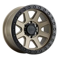 Black Rhino Wheels Baker - Matte Bronze W/Black Lip Edge And Black Bolts Rim - 17x8.5