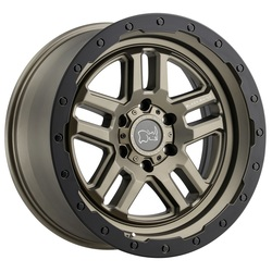 Black Rhino Wheels Barstow - Matte Bronze with Matte Black Lip Ring - 20x9.5