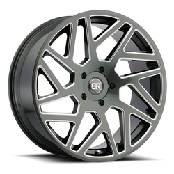 Black Rhino Wheels Cyclone - Gloss Titanium with Milled Spokes Rim - 24x10