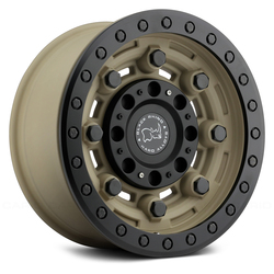 Black Rhino Wheels Garrison - Desert with Matte Black Lip Ring