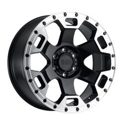 Black Rhino Wheels Gauntlet - Gloss Black W/Mirror Machined Lip Edge Rim - 17x8.5