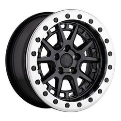 Black Rhino Wheels Gravel - Matte Black w/Machined Ring and Black Bolts Rim