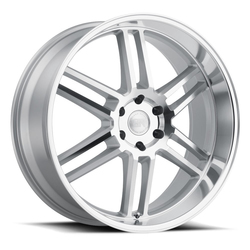 Black Rhino Wheels Katavi - Silver with Mirror Cut Face & Lip Rim - 22x10
