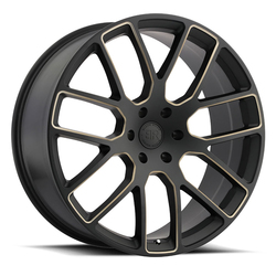 Black Rhino Wheels Kunene - Matte Black with Dark Tint Milled Spokes Rim - 24x10