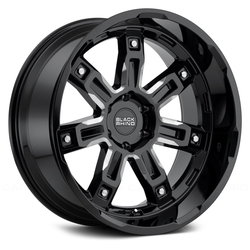 Black Rhino Wheels Locker - Gloss Black with Milled Spokes