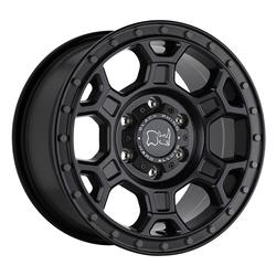 Black Rhino Wheels Midhill - Matte Black w/ Gunmetal Bolts Rim