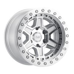 Black Rhino Wheels Reno Beadlock - Silver W/Mirror Face & Silver Bolts Rim - 17x8.5