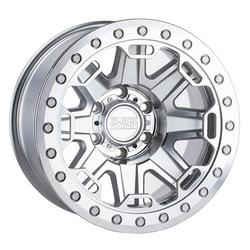 Black Rhino Wheels Rift Beadlock - Silver W/Mirror Face And Stainless Bolts Rim