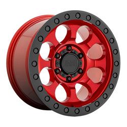 Black Rhino Wheels Riot - Candy Red w/Black Lip and Black Bolts Rim