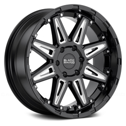 Black Rhino Wheels Rush - Gloss Black with Milled Spokes