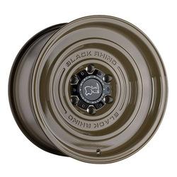 Black Rhino Wheels Solid - Gloss Alligator Green Rim - 17x9.5