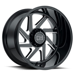 Black Rhino Swerve - Gloss Black with Double Milled Spokes