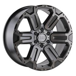 Black Rhino Wheels Wanaka - Matte Gunmetal w/ Brushed Face and Gunmetal Tint Rim - 17x8.5