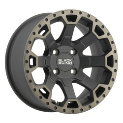 Black Rhino Wheels Warlord UTV - Matte Black W/ Machine Dark Tint Lip Rim - 14x7