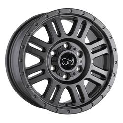 Black Rhino Wheels Yellowstone - Matte Gunmetal Rim - 16x8
