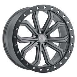 Black Rhino Wheels Trabuco - Matte Gunmetal with Black Lip Rim - 22x10
