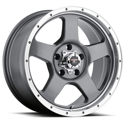 Level 8 Wheels Punch - Anthracite Grey with Machined Lip