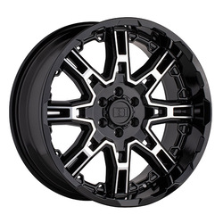 Level 8 Wheels Slingshot - Gloss Black W/Machined Face Rim