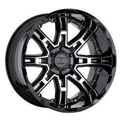 Level 8 Wheels Slingshot - Gloss Black w/ Machined Face Big X Factor Rim