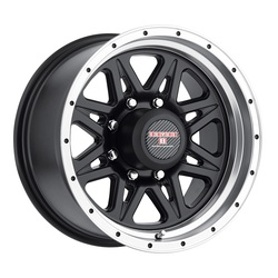 Level 8 Wheels Strike 8 - Matte Black w/Machined Lip Rim - 16x8.5