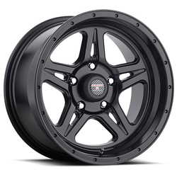 Level 8 Wheels Strike 5 - Matte Black Rim - 16x8.5