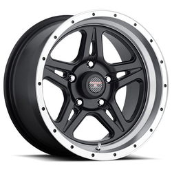 Level 8 Wheels Strike 5 - Matte Black with Machined Cut Lip