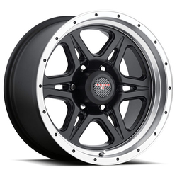 Level 8 Wheels Strike 6 - Matte Black with Machined Lip Rim