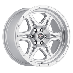 Level 8 Wheels Strike 6 - Silver with Machined Lip Rim - 16x8.5