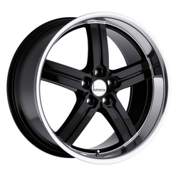 Lumarai Wheels Morro - Gloss Black with Mirror Lip - 19x8