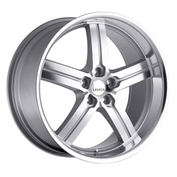 Lumarai Wheels Morro - Silver with Mirror Cut Face & Lip - 19x8