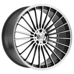 Mandrus Wheels 23 - Gunmetal W/Mirror Cut Face Rim - 22x10.5