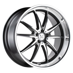 Mandrus Wheels Argent - Gloss Gunmetal W/Mirror Cut Face Rim