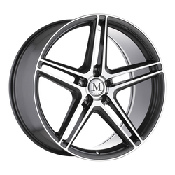 Mandrus Wheels Bemen - Gloss Gunmetal with Mirror Machined Spoke Faces Rim - 20x8.5