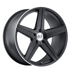 Mandrus Wheels Estrella - Matte Black W/Machine Lip Edge Rim