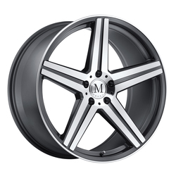 Mandrus Wheels Estrella - Gunmetal W/Mirror Cut Face & Lip Edge Rim
