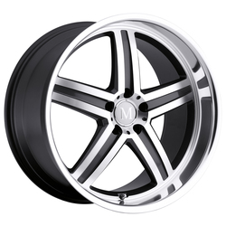 Mandrus Wheels Mannheim - Gunmetal W/Mirror Cut Face & Lip Rim - 22x10.5