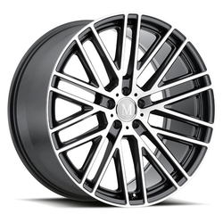Mandrus Wheels Masche - Gloss Gunmetal W/Mirror Cut Face
