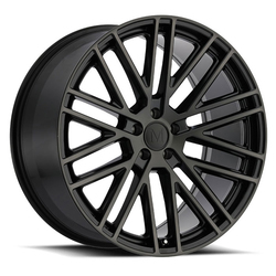 Mandrus Wheels Masche - Semi Gloss Black / Mirror Cut Face & Clear Rim - 22x10.5