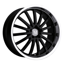 Mandrus Wheels Millennium - Gloss Black W/Mirror Cut Lip Rim