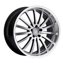 Mandrus Wheels Mandrus Wheels Millennium - Hyper Silver W/Mirror Cut Lip - 19x8.5