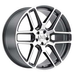 Mandrus Wheels Otto - Gunmetal W/Mirror Cut Face Rim - 22x10.5