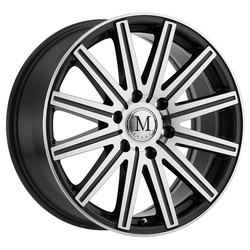 Mandrus Wheels Stark - Gunmetal W/Mirror Cut Face & Lip Rim - 16x7