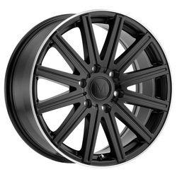 Mandrus Wheels Stark - Matte Black W/Machine Lip Edge
