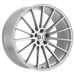 Mandrus Wheels Stirling - Silver W/Mirror Cut Face - 22x10.5