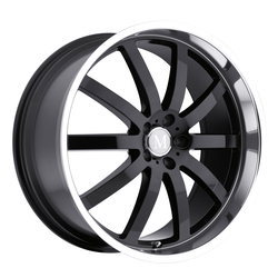 Mandrus Wheels Wilhelm - Gloss Black W/Mirror Cut Lip - 22x10.5