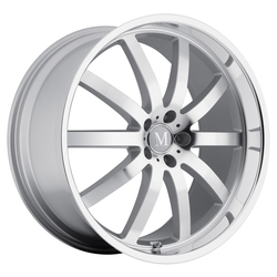 Mandrus Wheels Wilhelm - Silver W/Mirror Cut Face & Lip - 22x10.5