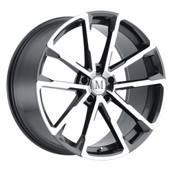 Mandrus Wheels Wolf - Gloss Gunmetal W/Mirror Cut Face Rim - 22x10.5