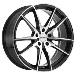 Petrol Wheels P0A - Gloss Black w/Machine Cut Face - 19x8